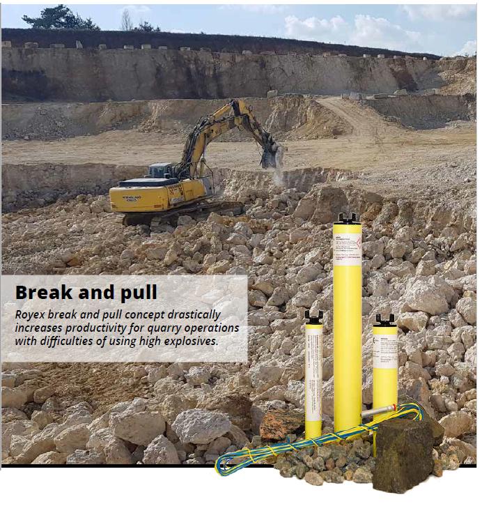 Royex quarrying technique